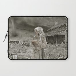 Aunt Em in Kansas as Twister approaches Laptop Sleeve