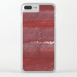 Maroon watercolor Clear iPhone Case