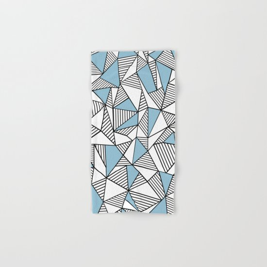 Abstraction Lines Sky Blue Hand & Bath Towel