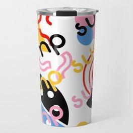 Trump sucks Memphis pop art Travel Mug