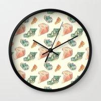 minerals Wall Clocks featuring Myriad Minerals by Rachel Kahn