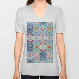 Oriental Traditional Eclectic Boho Moroccan Style  Unisex V-Neck
