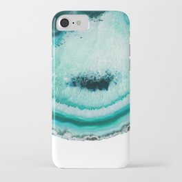 turquoise agate slice iPhone Case