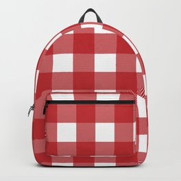 Buffalo Plaid in Red Backpack