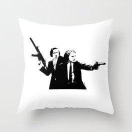 Chopin & Liszt - Gangsters Throw Pillow