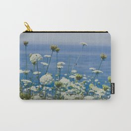 Flowers by the Beautiful Blue Sea Carry-All Pouch