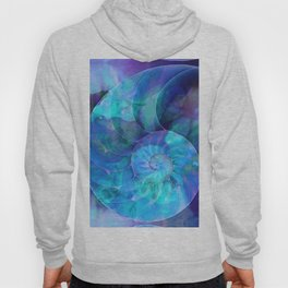 Blue Nautilus Shell - Nature's Perfection by Sharon Cummings Hoody