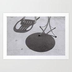 Chair Conversation Art Print