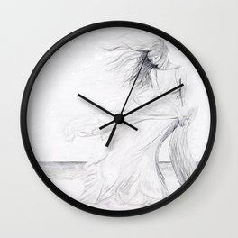 Gracefully Weathering the Storm Wall Clock