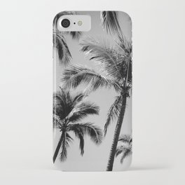 Black Palm Trees iPhone Case