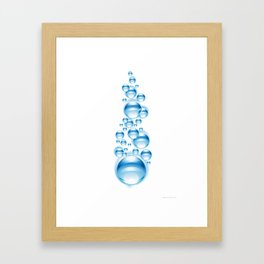 Bubbles for freedom Framed Art Print