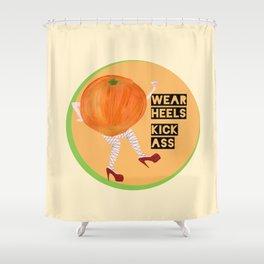 Burlesque Orange - Wear Heels, Kick Ass Shower Curtain