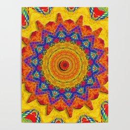 Fiesta Mosaic Poster