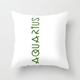 Horizontal Aquarius Throw Pillow