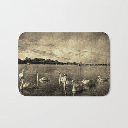 Serene Swans Vintage Bath Mat