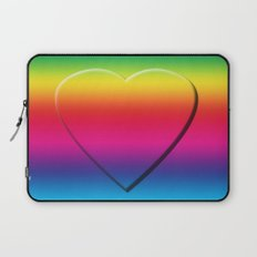 One Heart Rainbow Laptop Sleeve