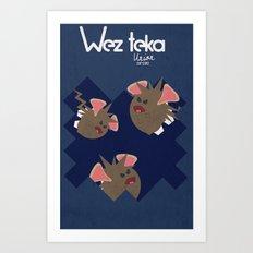 Midnight Attack! - Wezteka Union Art Print