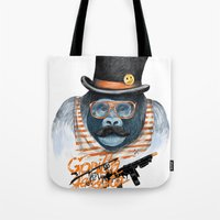 gangster Tote Bags featuring Gangster by dogooder