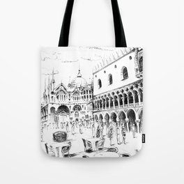 Sketch of San Marco Square in Venice Tote Bag