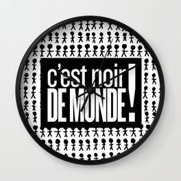Noir de monde Wall Clock