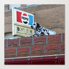 BUDWEISER Dalmation at Bob's Bar Canvas Print