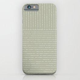 Lines (Linen Sage) iPhone Case