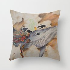 Whale Machine Throw Pillow