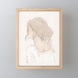 Sketch of a girl Framed Mini Art Print