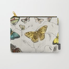 Vintage Butterflies | Various Butterflies | Vintage Butterfly Illustration | Carry-All Pouch