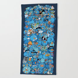 Twitter birds Beach Towel