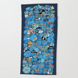 Twitter birds Beach Towel