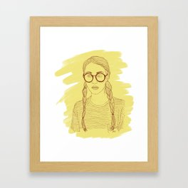 Ms Sunshine Framed Art Print