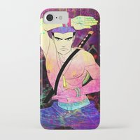 rave iPhone & iPod Cases featuring Rave Samurai by Waffle Guru