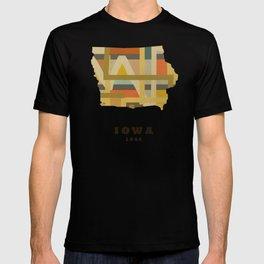 Iowa state map modern T-shirt