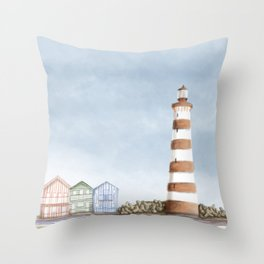 Aveiro landscape Throw Pillow