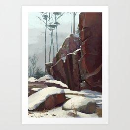 Rocks in Vyborg Art Print