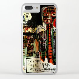 Jean-Michel Basquiat - Notary 1983 Clear iPhone Case
