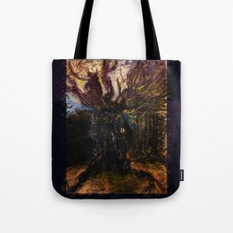 The Owl and Old Gnarly Tote Bag