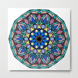 geometry element Alchemy religion Metal Print