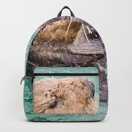 Belly Rub Digital Art Backpack