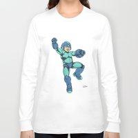mega man Long Sleeve T-shirts featuring Mega Man by Ramon Villalobos