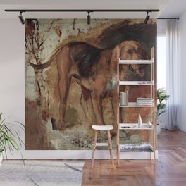 """William Holman Hunt """"Study Of A Bloodhound"""" Wall Mural"""