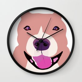 Smiling Bulldog Wall Clock