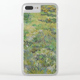 Long Grass with Butterflies Clear iPhone Case