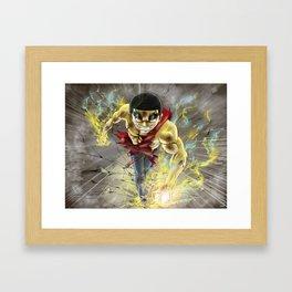 Fire James Framed Art Print