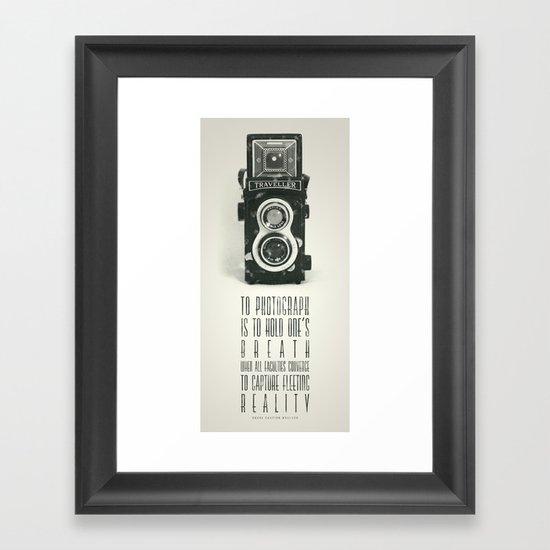 To photograph... Framed Art Print