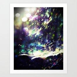 Blue Purple Web Art Print