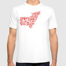 Wolf blooming White Mens Fitted Tee SMALL
