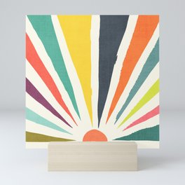 Rainbow ray Mini Art Print