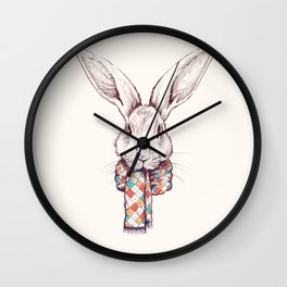 Bunny and scarf Wall Clock